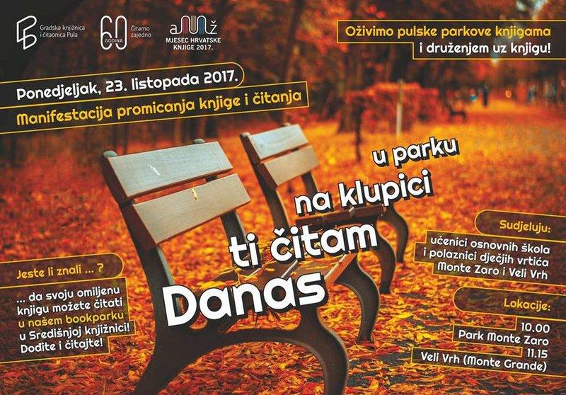 LokalnaHrvatska.hr Pula citajmo knjige u parkovima