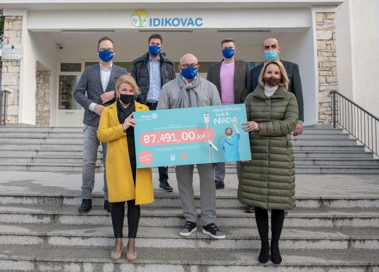 Rotary club Zagreb Osnovnoj školi Vidikovac donirao ček  vrijedan 87.491,00 tisuća kuna