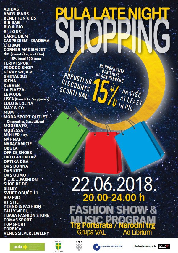 LokalnaHrvatska.hr Pula Ovog petka Late Night Shopping u centru Pule